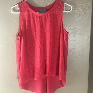 Stitch fix skies are blue high low sheer back tank